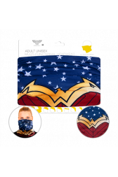 Officially Licenced Wonder Woman Neck Gaiter. Sized for adults.