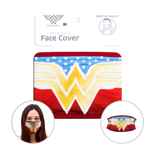 Officially Licenced Wonder Woman Face Mask. Sized for adults.